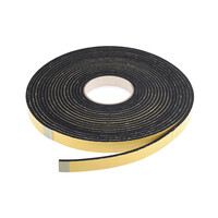 RS PRO Black Foam Tape, 10mm x 10m, 3mm Thick (6191720)